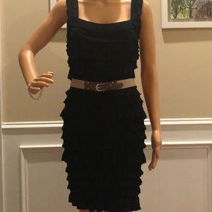 Ali Ro black ruffle dress